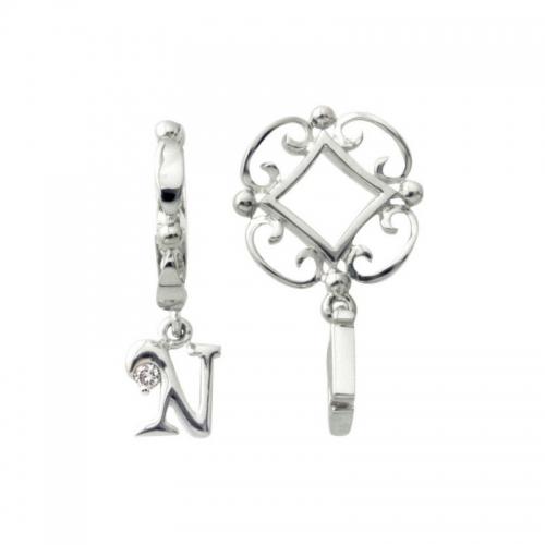 Storywheels Silver and Diamond Initial 'N' Wheel