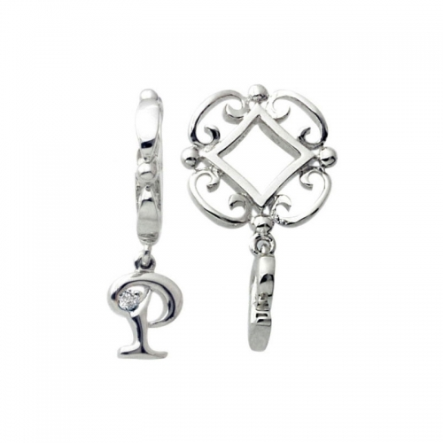 Storywheels Silver and Diamond Initial 'P' Wheel