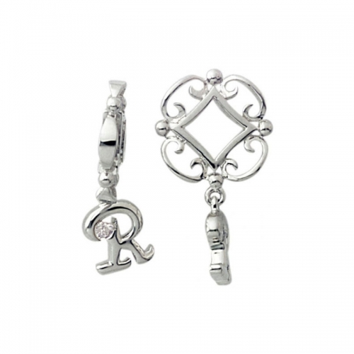 Storywheels Silver and Diamond Initial 'R' Wheel
