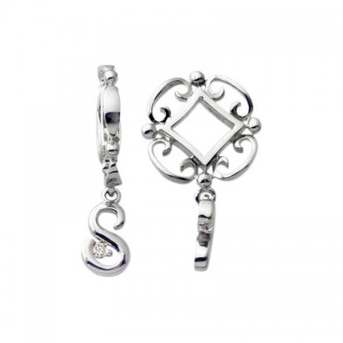 Storywheels Silver S Initial Dangle Charm S218D