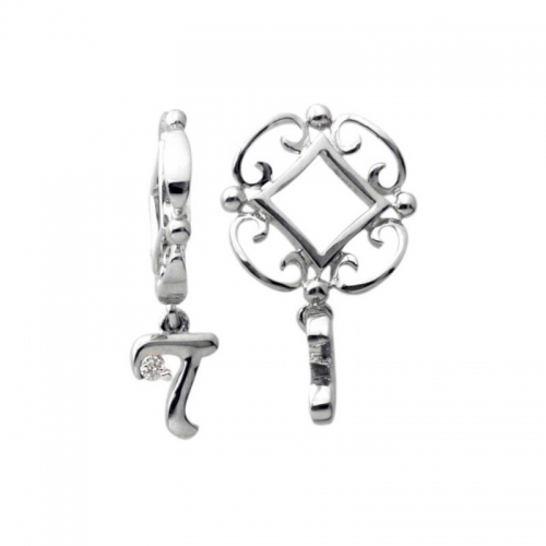 Storywheels Silver T Initial Dangle Charm S219D