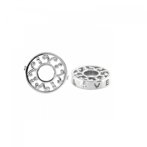 Storywheels Silver & Diamond Love Wheel Charm S365D