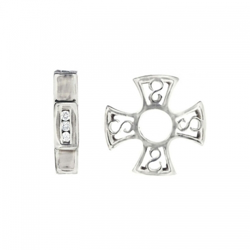 Storywheels Silver & Diamonds Cross Charm S043D