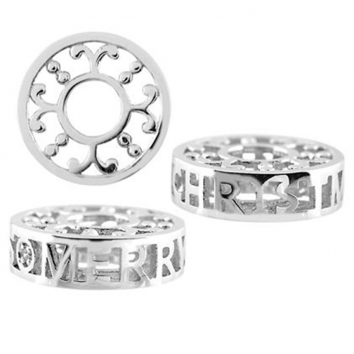 Storywheels Silver & Diamond 'Merry Christmas' Charm S503D