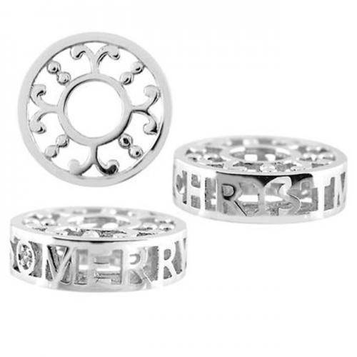Storywheels Silver & Diamond 'Merry Christmas' Charm S503D