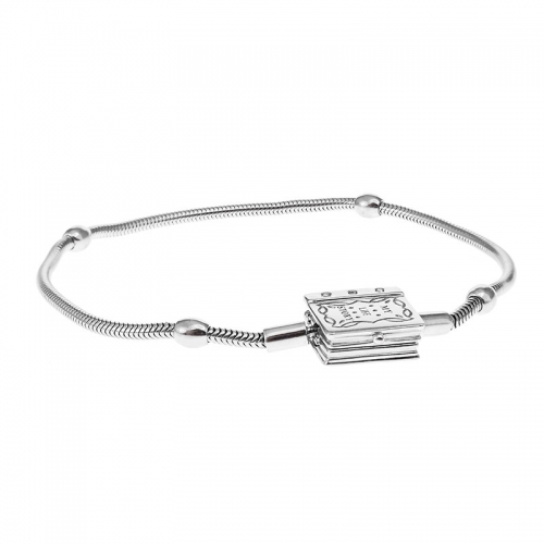 Storywheels Silver Bracelet with Diamond Book Clasp B003SD