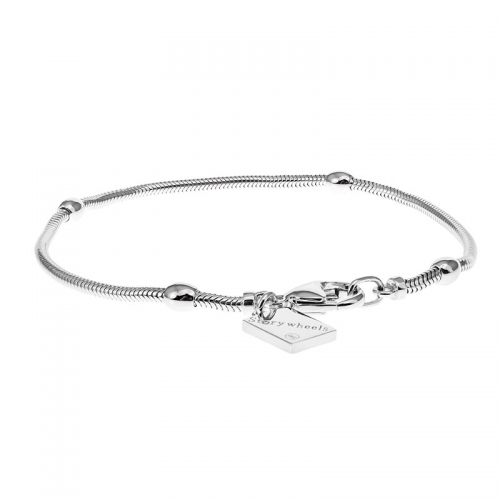 Storywheels Silver Bracelet with Lobster Clasp B004S