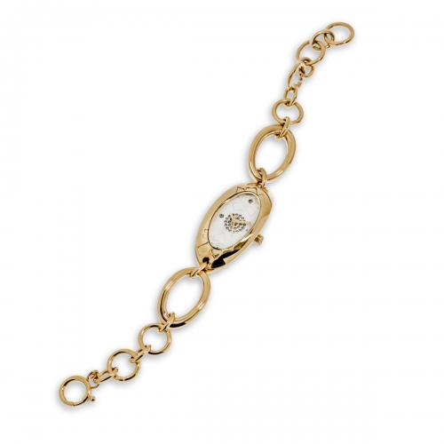 Nicky Vankets Gold Chain Link Watch