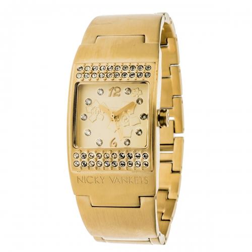 Nicky Vankets Matte Gold Cuff Watch