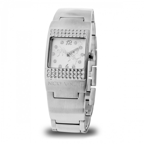 Nicky Vankets Matte Silver Cuff Watch