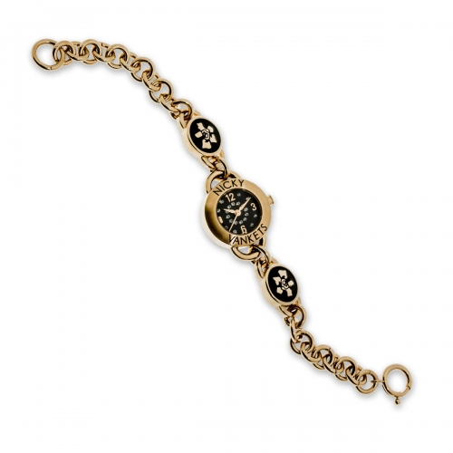 Nicky Vankets Gold Link Chain Watch