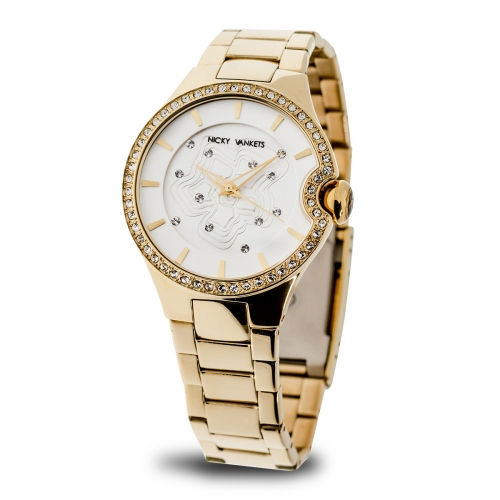Nicky Vankets Gold Boyfriend Style Watch