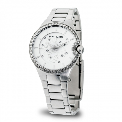 Nicky Vankets Silver Boyfriend Style Watch