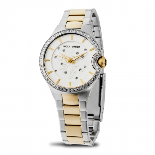 Nicky Vankets Two Tone Boyfriend Style Watch