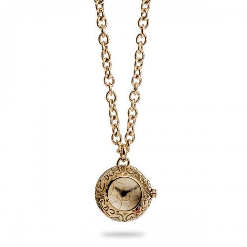 Nicky Vankets Gold Necklace with Small Watch Pendant