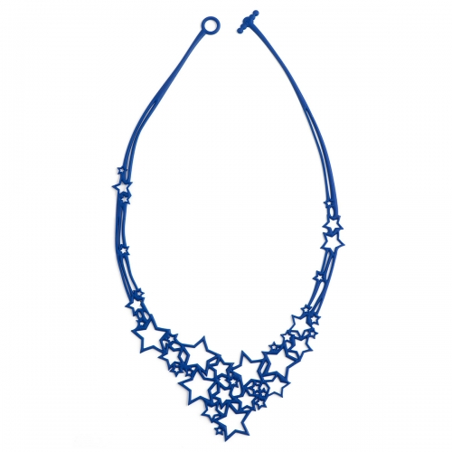 Batucada Skin Jewellery Blue Stars Necklace