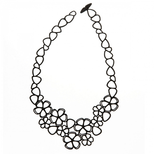 Batucada Skin Jewellery Batucada Black Sweet Flowers Necklace