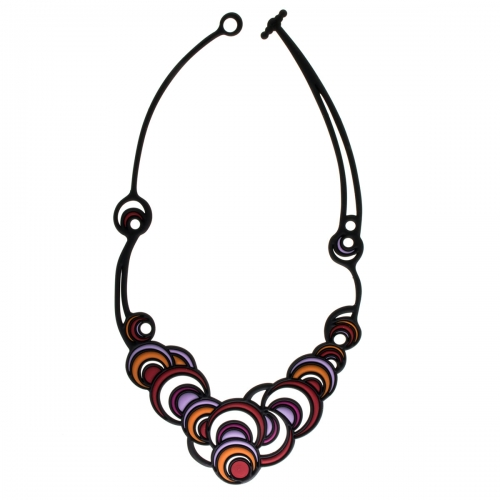 Batucada Skin Jewellery Purple Dancing Circles Necklace