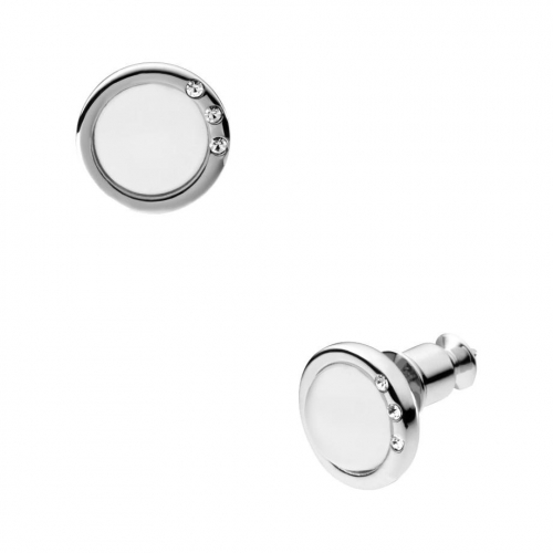 Skagen Sea Glass Silver Tone Stud Earrings
