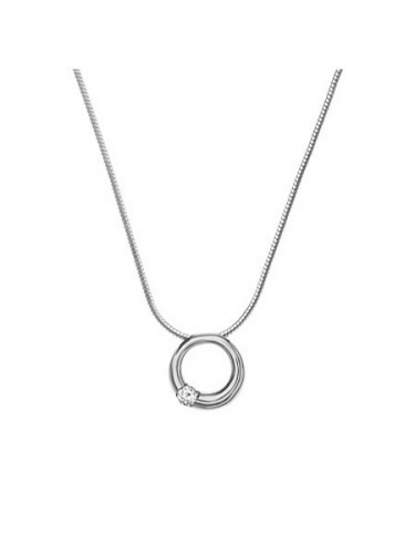 Skagen Elin Crystal Circle Necklace