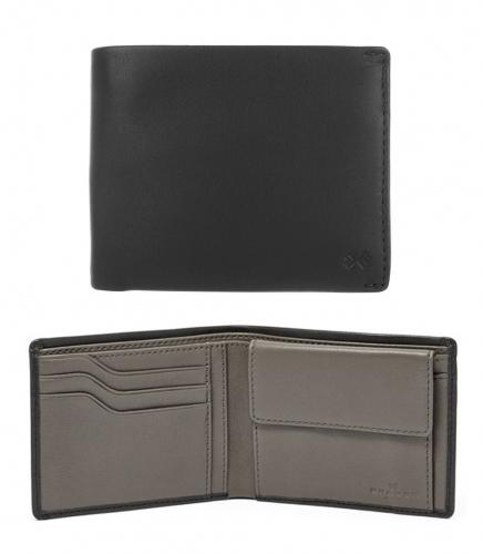 Skagen Ernst Black Leather Wallet