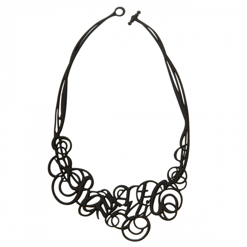 Batucada Skin Jewellery Black Romantic Necklace