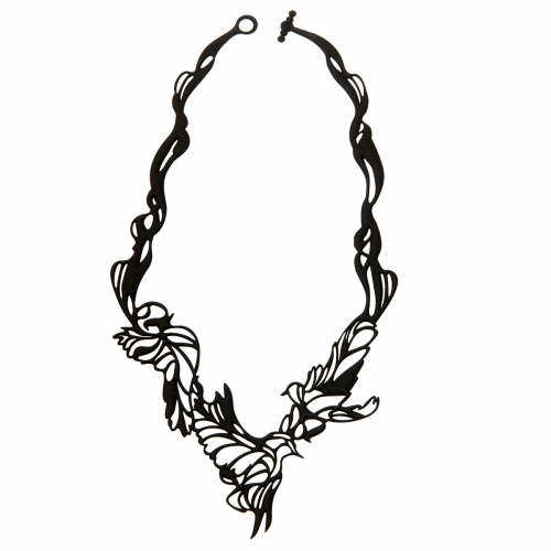 Batucada Skin Jewellery Black Bird Necklace