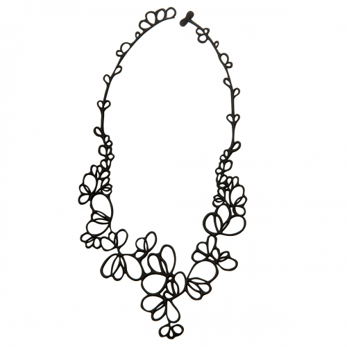Batucada Skin Jewellery Black Petals Necklace