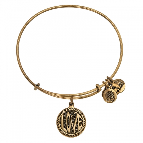 Alex and Ani Open Love Gold Bangle A12EB147RG