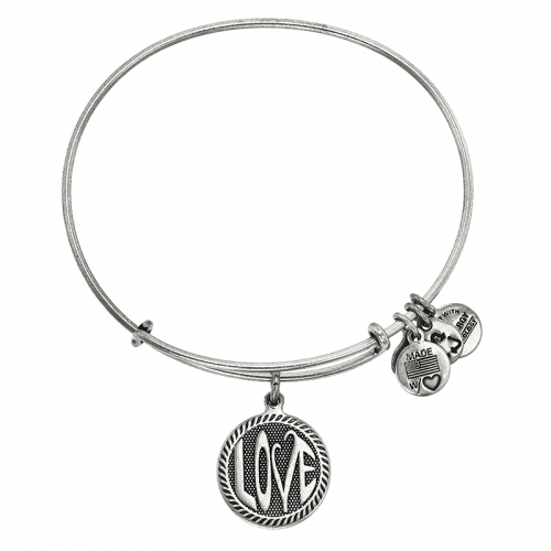 Alex and Ani Open Love Silver Bangle A12EB147RS