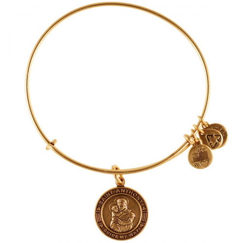 Alex and Ani Saint Anthony Gold Bangle A12EB01RG
