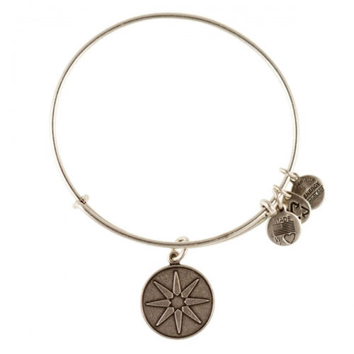 Alex and Ani Star of Venus Silver Bangle A12EB08RS