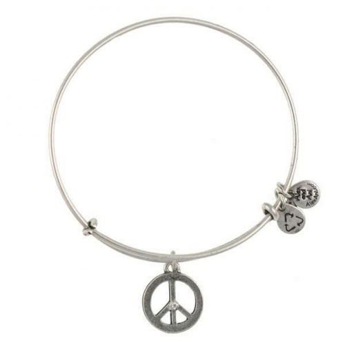 Alex and Ani World Peace Silver Bangle A09EB139RS
