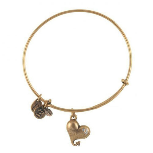 Alex and Ani Cupid's Heart Gold Bangle A09EB135RG