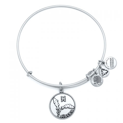 Alex and Ani Pisces Silver Bangle A13EB01PIRS