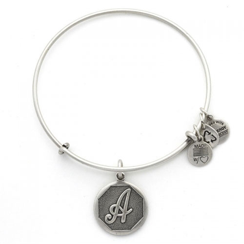 Alex and Ani Initial A Silver Bangle A13EB14AS