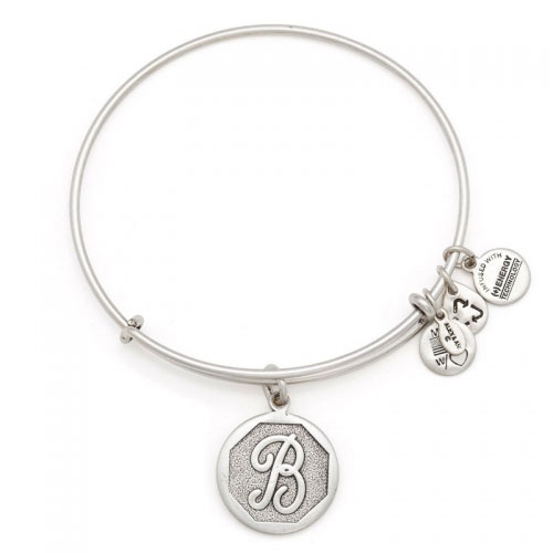 Alex and Ani Initial B Silver Bangle A13EB14BS