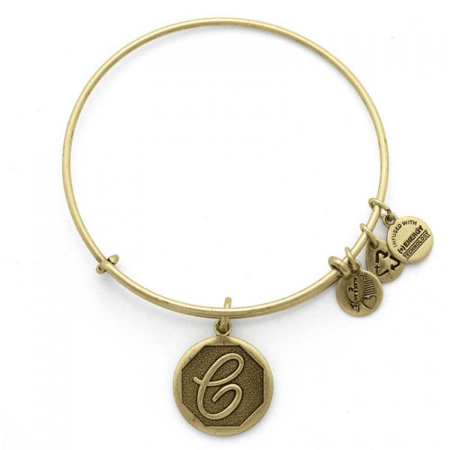 Alex and Ani Initial C Gold Bangle A13EB14CG