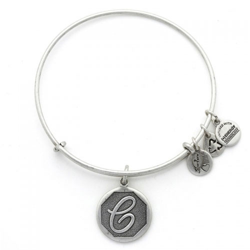 Alex and Ani Initial C Silver Bangle A13EB14CS