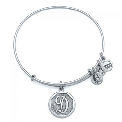Alex and Ani Initial D Silver Bangle A13EB14DS