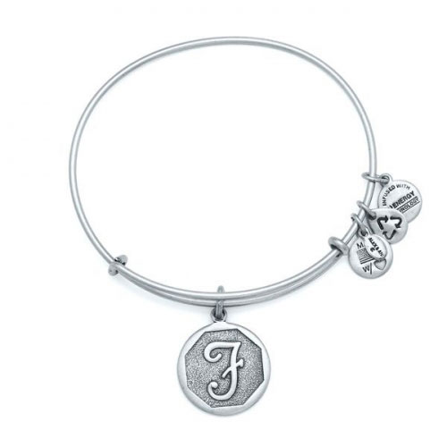 Alex and Ani Initial F Silver Bangle A13EB14FS