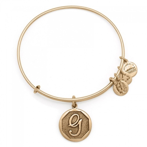 Alex and Ani Initial G Gold Bangle A13EB14GG