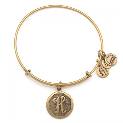 Alex and Ani Initial H Gold Bangle A13EB14HG