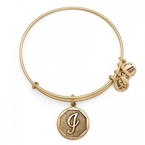 Alex and Ani Initial I Gold Bangle A13EB14IG
