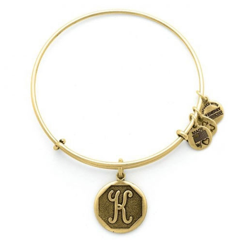 Alex and Ani Initial K Gold Bangle A13EB14KG