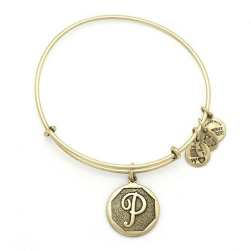 Alex and Ani Initial P Gold Bangle A13EB14PG