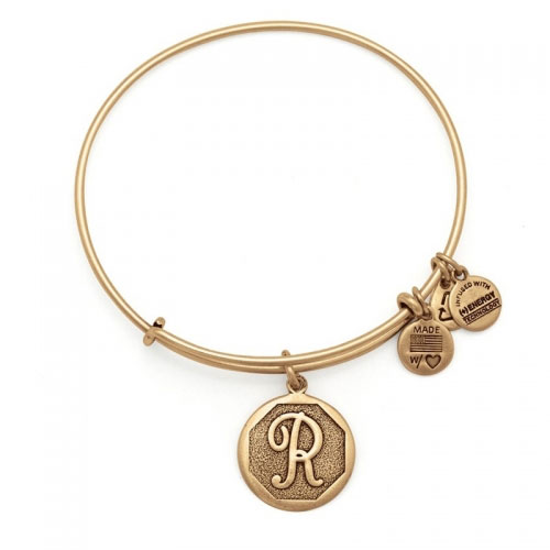 Alex and Ani Initial R Gold Bangle A13EB14RG