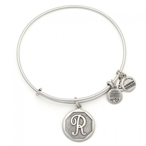 Alex and Ani Initial R Silver Bangle A13EB14RS