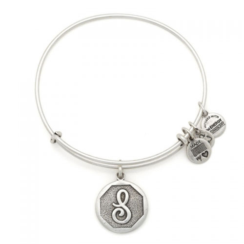 Alex and Ani Initial S Silver Bangle A13EB14SS