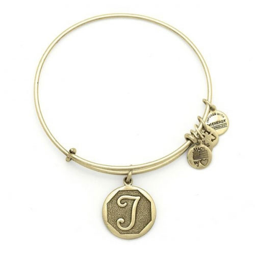 Alex and Ani Initial T Gold Bangle A13EB14TG